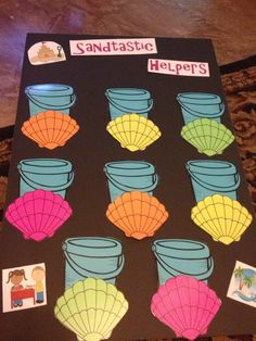 I Made my helper display today! Super excited for my beach and ocean themed classroom!