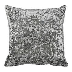 RomanSequinn Silver Throw Pillows