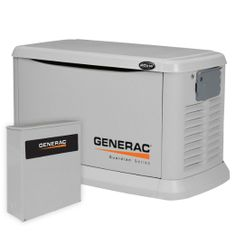 Amazon.com: Generac 6244 20,000 Watt Air-Cooled Aluminum Enclosure Liquid Propane/Natural Gas Powered Standby Generator (CARB Compliant) wit...