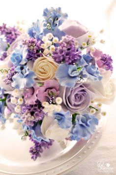 Blue, purple perfect bouquet