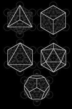 Platonic solids in Metatron's cube