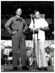 Neil Armstrong and Bob Hope  1969
