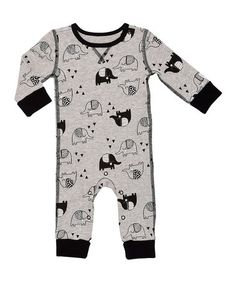 78b7e432c3b This Gray  amp  Black Elephant Waffle-Knit Playsuit - Infant is perfect!