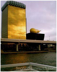 Asahi Beer Hall, Tokyo Japan. Golden Building