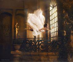 Incredibly Surreal Scenes Where Women Defy Gravity by Nikolay Tikhomirov