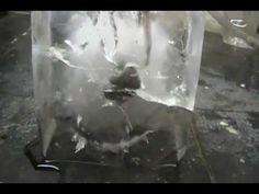 Bola de Níquel pegando fogo + Gelo / Água = WOW!!!