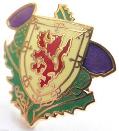 Scottish Rampant Lion Thistle Badge
