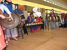 Percussion instruments that make up the Philippine kulintang ensemble, an example of pre-Hispanic musical tradition Philippines Culture, Visayas, Culture Clothing, Mindanao, Asian Art, North America, Colonial, Pinoy, Musical Instruments