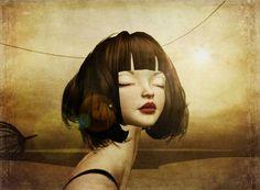 Sunkiss by Compean Klavinham - Mixed Media Artwork, Second Life, Photo Manipulation, Traditional Art, Annie, Avatar, Art Photography, Digital Art, Faces
