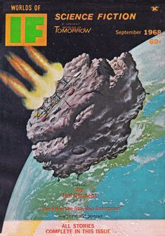 Worlds Of IF. Sept. 1968 Cover Art. McKenna