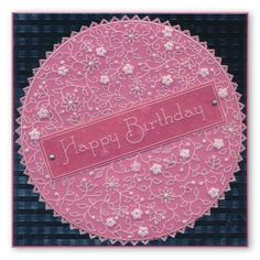 Friends Are Like Flowers & Floral Moon Square Groovi Plate Set Hobbies And Crafts, Crafts To Make, Embossing Tool, Birthday Cards, Happy Birthday, Parchment Cards, Flower Circle, Square Plates, Friends Are Like