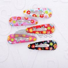 Multicolor PU childrens pattern of hairpin 20