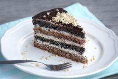 Štedrý orechovo-makovo-tvarohový koláč bez múky