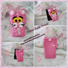 Olá meninas!!!!     Acabei de fazer mais um Porta Celular de Crochê e dessa vez eu fiz um pouco diferente das outras é que eu encontrei um ...