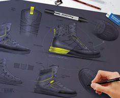 Quechua footwear sketches
