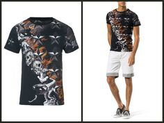 Sumptuous t-shirt with a spectral print of burning skulls and flames. A luxurious piece to get a standout look. #PhilippPlein  http://www.boudifashion.com/new-in-designer-fashion/departments/mens-designer-clothes/philipp-plein-tomorrow-black-t-shirt.html  #BoudiFashion #Designer #Clothing #Men #Classy #Style #Love #Fashion #Summer #SS15 #DesignerClothing #Shopping #UK