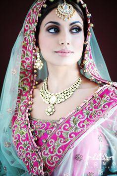She looks like an Indian bride Desi Bride, Desi Wedding, Wedding Hair, Wedding Dresses, Wedding Makeup Artist, Bride Makeup, Wedding Beauty, Asian Bridal, South Asian Wedding