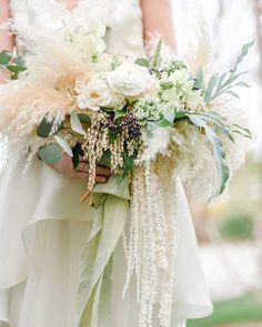 Fluffy As A Cloud Wedding Bouquet ~ love this unique bouquet by Scarlett & Grace