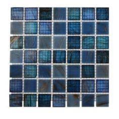 Splashback Tile, Bahama Blue Glass Tile Sample, R3C2 at The Home Depot - Mobile