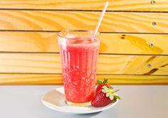 Suco de abacaxi com morango, da Dona Vitamina