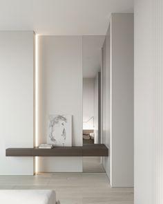 Bedroom #bedroom #modernbedroom #minimalisticbedroom #ideasforbedroom #minimalism #minimalisticarchitecture #minimalisticinterior #architecture #modernarchitecture #design #minimalisticdesign Interior Architecture, Interior Design, Entry Hallway, Display Shelves, Mudroom, Beautiful Homes, Minimalism, House Design, Living Room