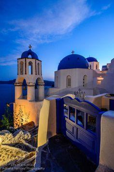 Blue Hour in Oia - Santorini