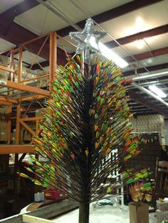 Archery Christmas Tree...im gonna need alot more arrows before christmas!