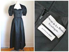 vintage 1970s evening gown OSCAR de La RENTA black by MsTips
