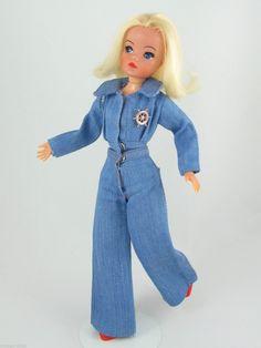 Sindy DENIM DOUBLE 1977 COMPLETE Outfit | No Doll | Vintage Pedigree Sindy | eBay Vintage Barbie, Vintage Dolls, Sindy Doll, Barbie And Ken, Complete Outfits, Old Toys, Childhood Memories, Doll Clothes, Vintage Fashion
