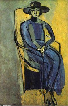 'Portrait of Greta Prozor', öl auf leinwand von Henri Matisse (1869-1954, France)
