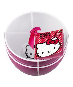 Love this Pink & White Hello Kitty Bowl - Set of Two by Hello Kitty on #zulily! #zulilyfinds
