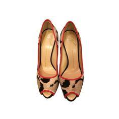 Giuseppe Zanotti Leopard Peep Toe Leopard Print Pumps ($25) ❤ liked on Polyvore featuring shoes, pumps, leopard print shoes, peep-toe pumps, giuseppe zanotti pumps, peep toe shoes and leopard peep toe pumps