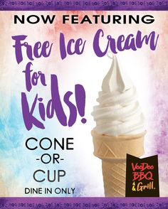 VooDoo BBQ Summer Ice Cream Promo for Kenner location