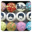 The Beatles cupcakes by Crumbs and Doilies