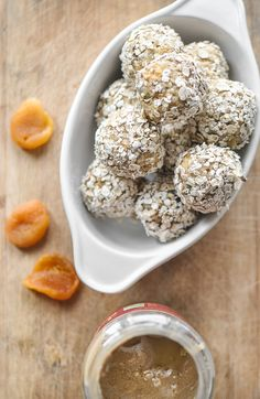 Dried Apricots and Tahini Energy Balls — Food Recipes HQ