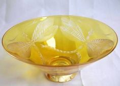RARE-JULIA-LINSTEAD-DRAGONFLY-BOWL-SIGNED-ART-GLASS