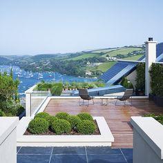 Minimalist roof terrace | Minimalist Devon home
