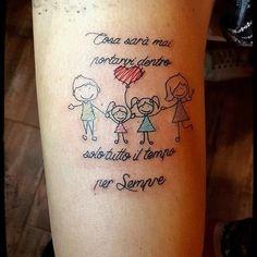 #family #familytattoo #liga #ligabue #forever #colortattoo #shiva_ink_side #italiantattooartist #tattoos #tattoo #leg #calligraphy