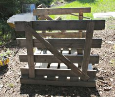 How to up cycle pallets for chicken coop.  In Just a few hours, we turned this pallet into a perfect broody hen coop for half a dozen hens!