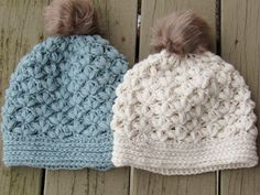 Use this  Slouchy Beanie Crochet Pattern to make a beautiful hat with a floral puff stitch. It is far easier to work and has more drape than a jasmine stitch.