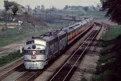 Zephyr - CB&Q Zephyr westbound at Naperville, IL - Early '60's