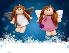 Kerst engeltjes van Fimo soft