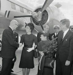 John and Jackie Kennedy.
