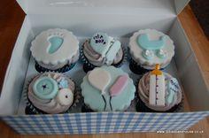 baby boy blue cupcake gift box at Lydia's Bakehouse