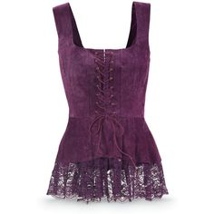 Purple Suede Corset Women's Top Size 2X (140 PLN) ❤ liked on Polyvore featuring tops, shirts, tank tops, corset, purple, plus size, long tank tops, button shirt, purple tank top and long tank