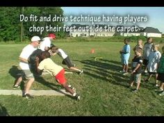 offensive line coaching - youth football - carpets/planks Teaches the Fundamentals of blocking