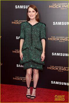 Jennifer Lawrence Wears Lace Bra Under Sheer Dress at 'Mockingjay Part 2' NYC Premiere | jennifer lawrence hunger games mockingjay nyc premiere 29 - Photo