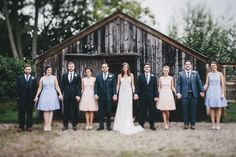 A more creative shot of the wedding party #Photography #wedding
