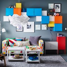 Ikea LIXHULT wall cabinets - color and dimensions to the wall (requires $$$)
