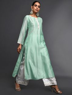 Jaypore is about bringing the world a little closer together. We discover the best designs from artisans and craftsmen from all over India, and deliver them at exceptional value to our members. Indian Gowns, Indian Attire, Pakistani Dresses, Indian Outfits, Indian Clothes, Ethnic Outfits, Western Outfits, Indian Wear, Kurta Designs Women